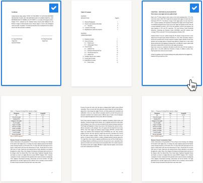 Pagina's selecteren scriptie nakijken