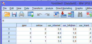 gegevens invoeren spss