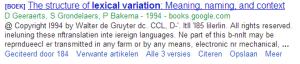 Google scholar zoekresultaat