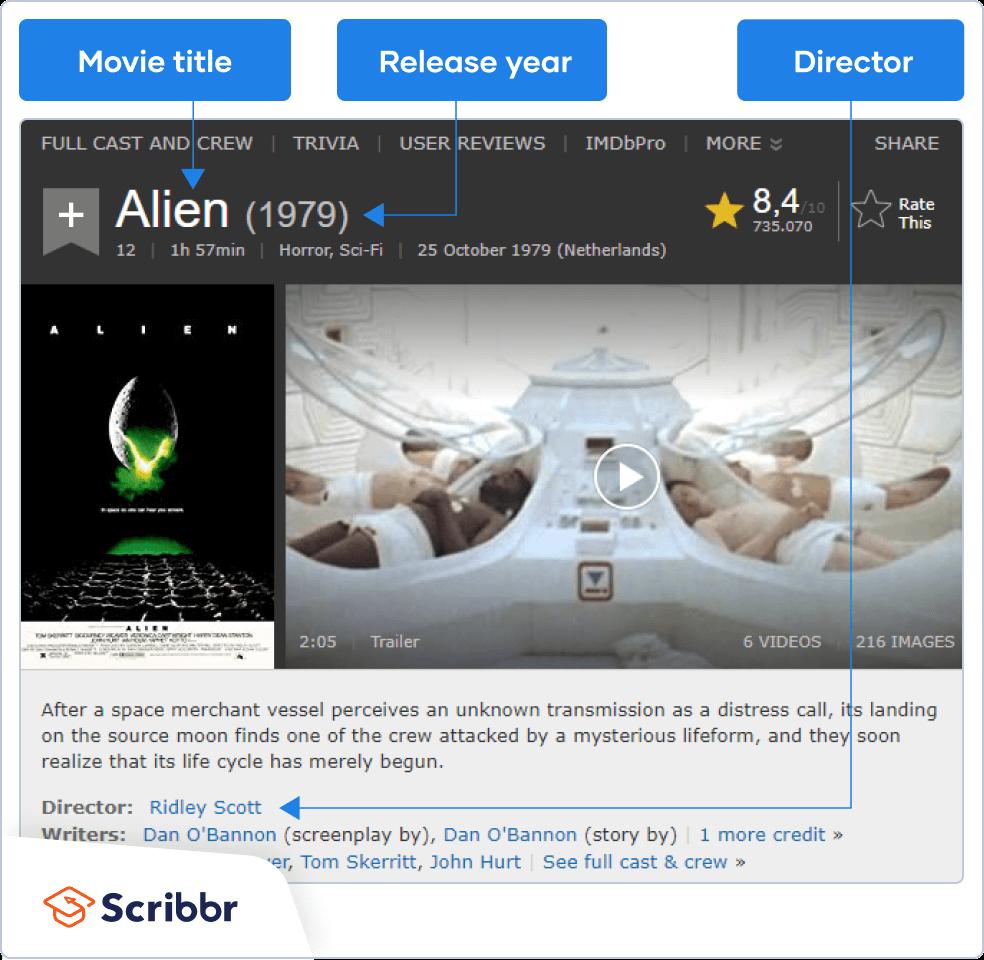 APA movie source info