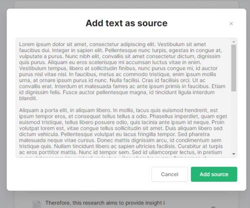 Tekst als bron gebruiken